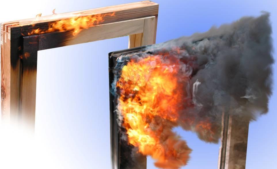 Стойкость к огню деревянного окна